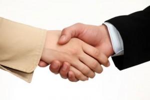 job interview handshakes