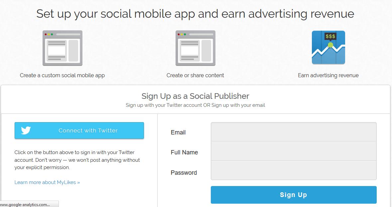 mylikes.com signup