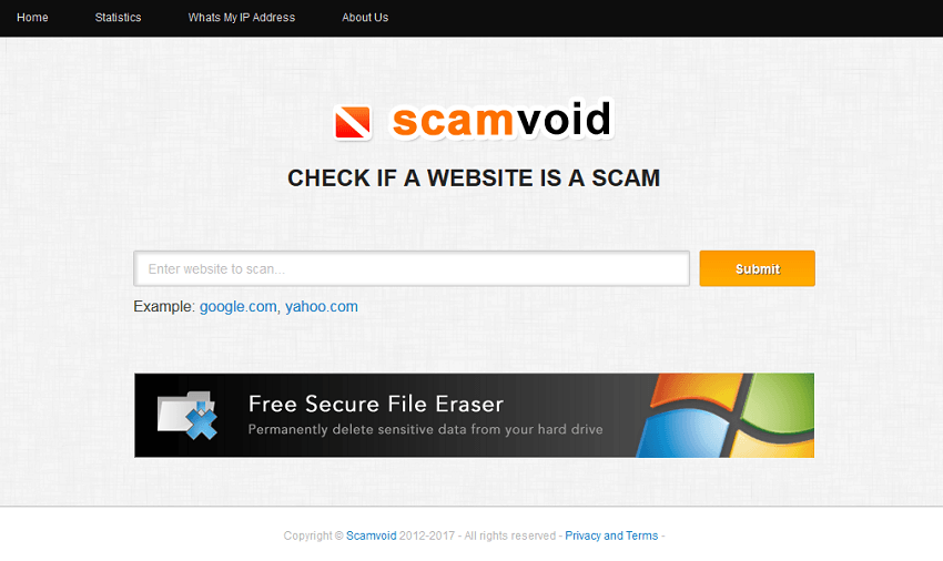 how to check for scam websites