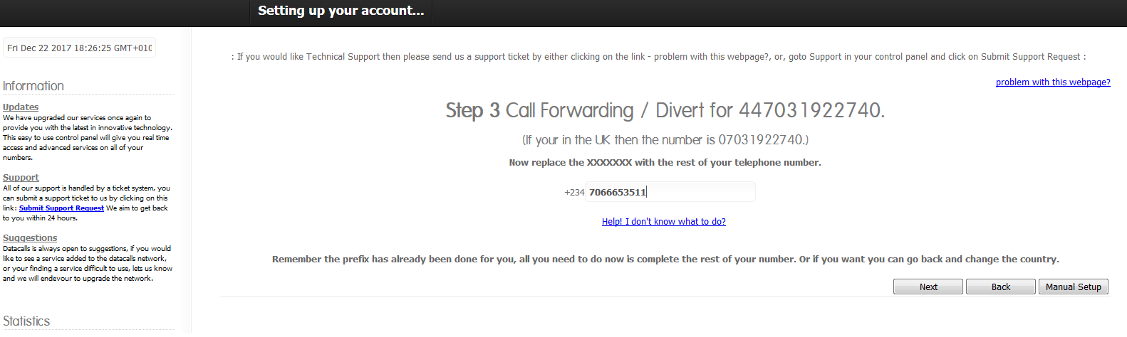 How To Get a Free US / UK Phone Number and Diverted To Your Local Phone Number 13